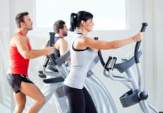 Exercise Female & Male On Eliptical